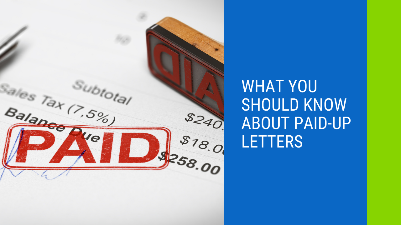 Paid Up Letters